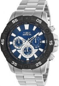 【送料無料】invicta mens pro diver quartz chronograph 100m stainless steel watch 24584