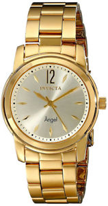 【送料無料】invicta angel womens analog goldtone quartz stainless steel watch 17420
