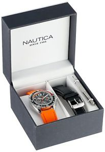 【送料無料】 nautica mens sport ring watch box set