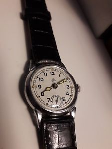 【送料無料】thiel ww2 military germany ddr icer watch, raro da revisionare