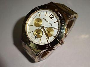 【送料無料】michael kors all gold stainless steel mens 100m wr chronograph watch mk4933