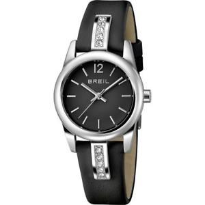 【送料無料】orologio donna breil liberty tw1395 vera pelle nero swarovski sub 50mt