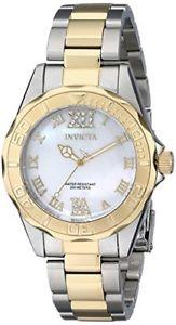 【送料無料】invicta womens pro diver analog display swiss quartz two tone watch 17871