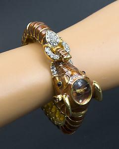 【送料無料】adrienne limited edition couture collection elephant quartz watch bracelet