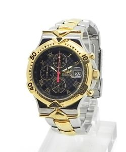 【送料無料】invicta two tone stainless steel quartz chronograph watch date 39mm miyota 0s60