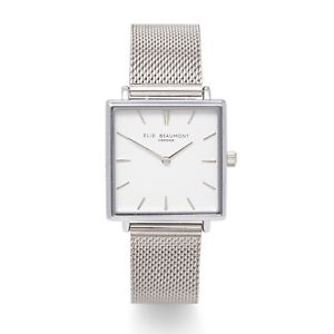 【送料無料】elie beaumont for 2018, bayswater silver mesh watch,