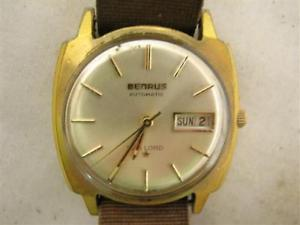 【送料無料】vintage benrus sea lord automatic mens swiss wrist watch