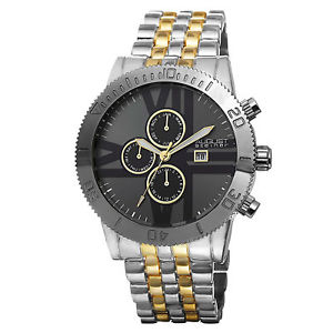 mens august steiner as8086ttg swiss quartz multifunction bracelet watch