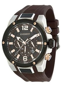 【送料無料】everest mens es30058 analog multi function dual time watch