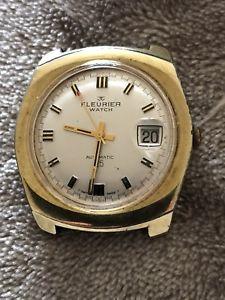 【送料無料】vintage gents fleurier automatic watch