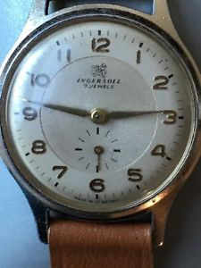 【送料無料】gents  ingersoll wrist watch with sub seconds 5060s made in great britain with
