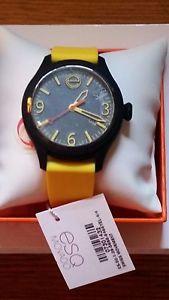 movado esq one mens womens yellow swiss quartz designer watch 07301432 nwt