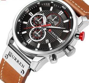 【送料無料】wrist watch military sport accessories mens leather strap gifts waterproof date