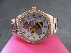 【送料無料】betsey johnson bj00048231 bumble bee crystal embellished bracelet watch nwb