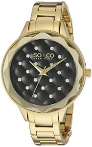 【送料無料】soamp;co york 52553 womens madison quartz metal and stainless steel watch