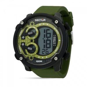 【送料無料】sector ex20 52mm digital green strap r3251571003