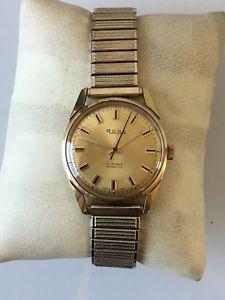 【送料無料】mens vintage rone 17 jewel incabloc gp watch fitted to expandable strap