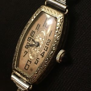 art deco engrave sada watch co 15j manual ladies wrist watch sapphire filigree