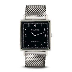 【送料無料】selvine silver milanese chain strap watch with silver stainless steel case