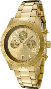 【送料無料】invicta womens specialty chronograph 50m gold tone stainless steel watch 1279