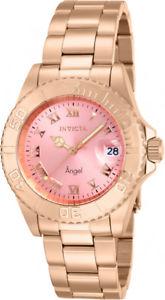 【送料無料】invicta womens angel quartz 200m rose gold tone stainless steel watch 14369