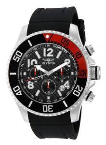 【送料無料】invicta mens pro diver chrono 100m stainless steel polyurethane watch 13727