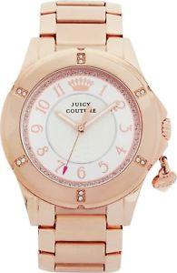 【送料無料】juicy couture 1901201 ladies rich girl rose charm bracelet watch 30 rrp