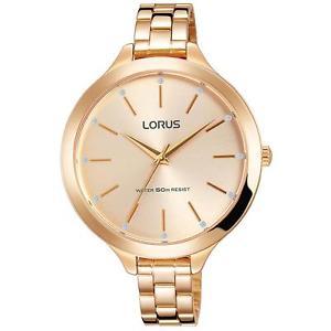 【送料無料】lorus womens 38mm rose goldtone steel bracelet amp; case quartz watch rg296kx9