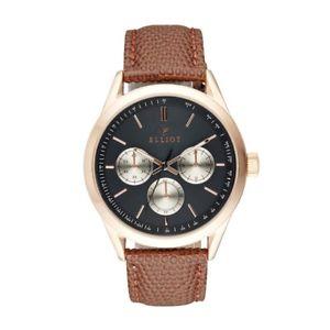 【送料無料】elliot brown lizardgrained genuine leather watch with stainless steel case and