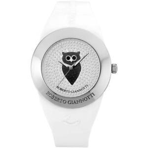 【送料無料】orologio roberto giannotti misteri della notte omn151 civetta silicone bianco
