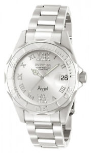 【送料無料】invicta womens angel 200m silver tone stainless steel watch 14396