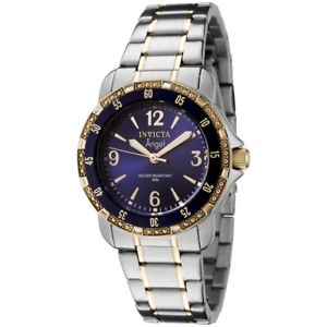 【送料無料】invicta womens 0548 angel collection 18k goldplated and stainless steel watch