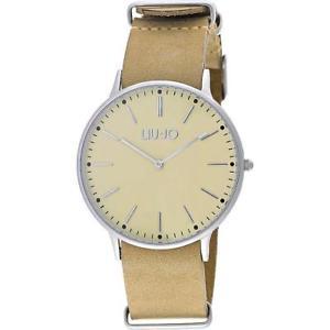 【送料無料】orologio uomo liu jo luxury navy tlj967 vera pelle beige classico