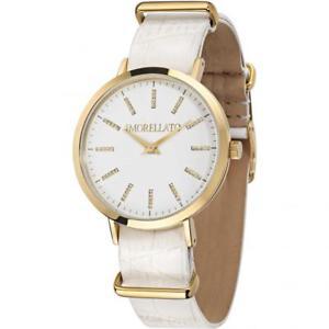 【送料無料】orologio donna morellato versilia r0151133505 pelle bianco gold dorato swarovski