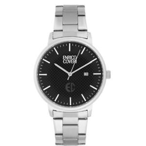 【送料無料】orologio uomo enrico coveri ectc020 bracciale acciaio nero 42mm