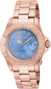 【送料無料】invicta womens angel quartz 200m rose gold tone stainless steel watch 16853