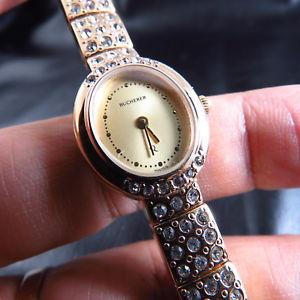 【送料無料】genuine swiss made bucherer jewelry quartz lady watch free shipping
