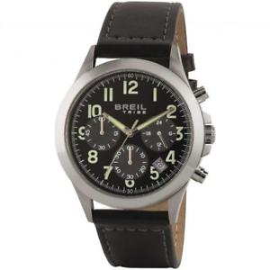 【送料無料】orologio uomo breil tribe choice ew0299 chrono pelle nero sub 50mt