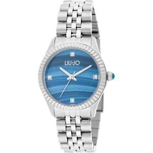 【送料無料】orologio donna liu jo luxury tiny tlj1304 bracciale acciaio blu swarovski