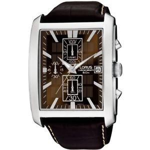 【送料無料】lorus gents chronograph leather strap watch rm319bx9