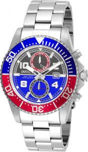 【送料無料】invicta mens pro diver swiss quartz chrono 200m stainless steel watch 18517