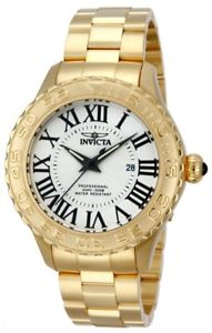 【送料無料】invicta mens pro diver quartz 200m gold plated stainless steel watch 14379