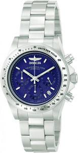 【送料無料】invicta mens speedway chronograph quartz 200m stainless steel watch 9329