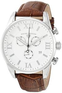 【送料無料】swiss legend 2201102brn brown leather strap silver case mens quartz watch