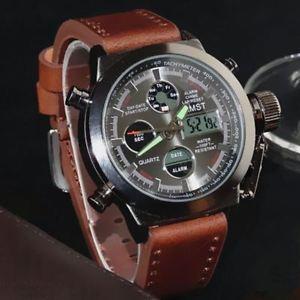 【送料無料】amst military watches dive 50m nylonamp;leather strap led watches men top brand lux