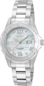 【送料無料】invicta womens pro diver analog quartz 100m stainless steel watch 14350