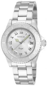 【送料無料】invicta womens angel analog quartz date 200m stainless steel watch 14320