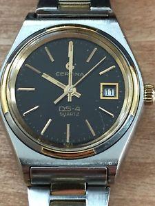 【送料無料】vintage certina ds4 quartz ladies swiss wrist watch 19841986
