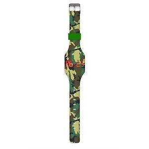 【送料無料】fashion teen silicone camouflage strap led wrist watch light up digital display
