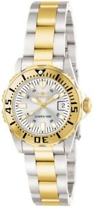 【送料無料】invicta womens pro diver 100m goldsilver tone stainless steel watch 14371
